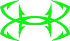 Fish Hooks Sticker Decal design IN Iguana GREEN  FREE US SHIP
