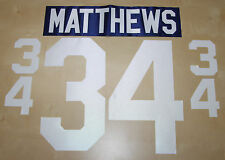 AUSTON MATTHEWS 2016 TORONTO MAPLE LEAFS HOCKEY JERSEY NAME & NUMBER KIT