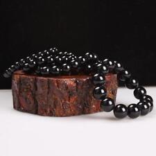 Macho y hembra negro obsidiana Pulsera de cristal perlas cadena de mano de Buda