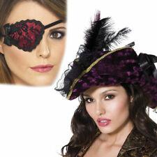 Femmes Déguisement Pirate Sexy Violet Chapeau Grande Lacets Cache Accessoire