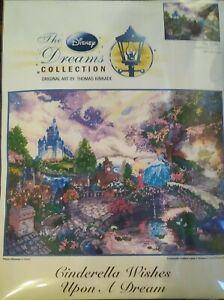 "Thomas Kinkade Disney Dreams Collection Cross Stitch Kit CINDERELLA  16"" x 12"""