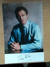 Tony Blair UK Prime Minister 1997-2007 Autographed Photograph 4x6