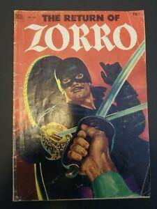 Four Color #425 - The Return of Zorro comic book  (Sep 1952, Dell)