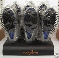 HAYASHI Cushioned Small Travel Size STYLING BRUSH ~ BOX of 12 ~ (Silver & Blue)