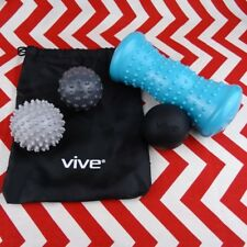 Vive Hot and Cold Muscle Massage Therapy Ball Roller Set Spike Pressure Points