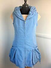 Femmes d/'été sans manches Tunique Gilet Bleu Clair Long Gilet Lagenlook Taille 10//12