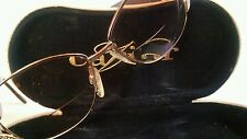 VTG 'Caviar Authentic Lady's Gold Open Bow Swirl Genuine Australian Crystals