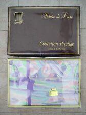"""Parure de draps ancienne """"collection Prestige"""" 5 pièces 100% coton neuf"""