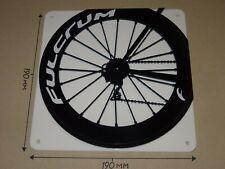 Fulcrum Cycling Wheel, Fulcrum rear wheel design - Acrylic Sign: 190x190mm