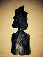 statue buste africain afrique bois