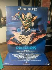 Vintage Gremlins Movie Mini Counter Standee Promotional Display Signed Zach