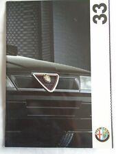 Alfa Romeo 33 range brochure Mar 1993