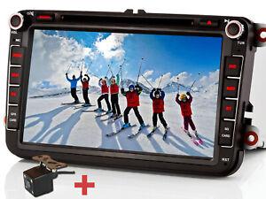 """Rückfahrkamera+ 8"""" Autoradio NAVI GPS DVD USB Für VW PASSAT GOLF 5 TIGUAN TOURAN"""