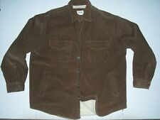Vintage High Sierra Sherpa Lined Thick Corduroy Button Front Shirt Jacket XL