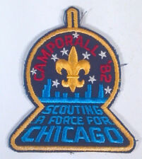 "Boy Scouts 1982 Camporall Scouting A Force For Chicago 4.25"" Patch Badge Skyline"