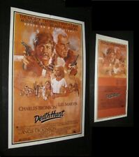 Original DEATH HUNT One Sheet & Daybill LEE MARVIN Solie Art CHARLES BRONSON
