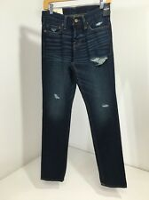 HOLLISTER BOY/TEEN BUTTON FLY SKINNY JEANS 26/30 NWT