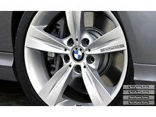 4x Twin Power Turbo BMW Performance Leichtmetallfelgen Aufkleber-Set