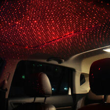 Car Rotating Star Projector Red LED Roof Light Atmosphere Lamp Kit Plug and Play