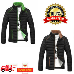 Branded Mens Jacket Winter Warm Bubble Line Coat Quilted Padded Puffer Tops