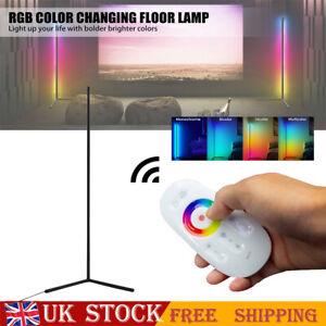 LED RGB Floor Lamp Light Stand Corner Streaming Room Gaming Room Black/White UK