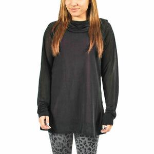 Women's PUMA Sheer Hoodie Black/Purple Lined $88