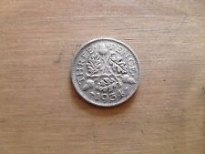 Old silver threepenny coin 1934