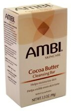 (3 Pack) AMBI CLEANSING BAR SOAP COCOA BUTTER 3.5 Ounce