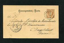 """Österreich   """"Mittersill"""" auf Ganzsache von 1884  (#859)"""