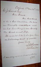 1885 ONTARIO WESTERN RAILROAD SAD CONDITION LETTER RAILWAY OXFORD NY CENTRAL RR