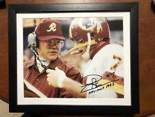 Joe Theismann Signed Photo 8x10 Washington Redskins Joe Gibbs Framed