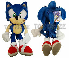 "SONIC THE HEDGEHOG PLUSH BACKPACK! BLUE SOFT DOLL FIGURE SEGA 18"" NWT"