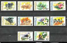 #8268 RWANDA FAUNA ELEPHANTS,ZEBRAS FLOWERS YV 1071-80 MNH