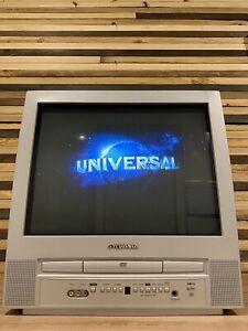 "Sylvania EC520E 20"" Inch Color Tube CRT TV DVD Combo Gaming Retro Vintage"