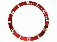 BEZEL INSERT FOR ROLEX SUBMARINER RED (fits some vostok amphibia bezels)