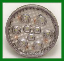 """Reverse Back-Up 9 LED 4"""" Round Grommet Mount White Trailer Light"""