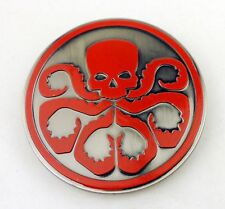 TACTICS COOL CAPTAIN AMERICA HYDRA SKULL BELT METAL MONEY CLIP BADGE
