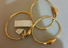 Tory Burch SNAKE STACKING BANGLES 16K Gold Plated Comes in set of 3