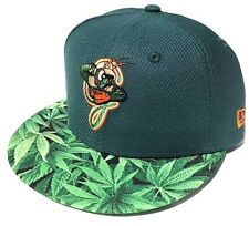 7 1/8 Greensboro Grasshoppers Weed Brim 59FIFTY New Era Fitted Minor League MiLB