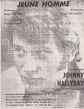 Johnny HALLYDAY  Partition JEUNE HOMME