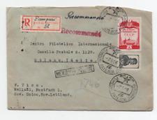 RUSSIA/LATVIA PUMPURI/MELLUZI 7/5/1956 REGISTRED COVER TO MILAN
