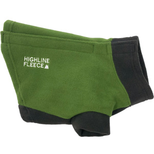 Highline Fleece Dog Coat Two Tone Green Little to Big Dog Sizes 8-28
