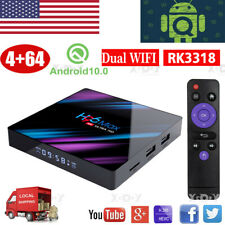 Android 10.0 H96 MAX 4+64G Smart TV BOX 5.0G WIFI Quad Core RK3318 Media Player