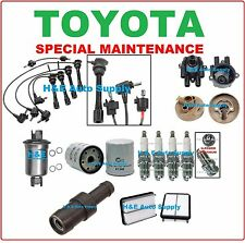 91-95 TOYOTA PREVIA TUNE UP KITS: SPARK PLUG WIRE SET CAP ROTOR AIR & OIL FILTER