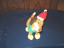 1998 ALL DOGS GO TO HEAVEN ITCHY PUPPY DOG PLUSH BEAN BAG IN SANTA HAT