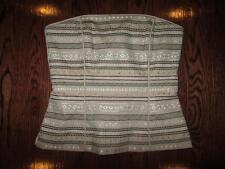 WHITE HOUSE BLACK MARKET Strapless Bronze Studded Bustier Corset Top Shirt 2 $88