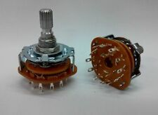 2 pcs - 4 Pole 3 Position Rotary Switch