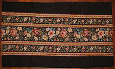 Window Valance~Quilted Brown Flower~Peach~Blue~Tan~Cou ntry~Jc Penney~Curtain~New