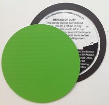magnetic tax disc holder GREEN carbon fibre Fits audi seat skoda kia saab volvo