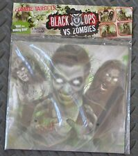 Black Ops vs. Zombies Pistol / Rifle Shooting Targets - 20 Count